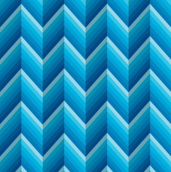 CIK-CAK vzor v příjemně modrých odstínech